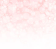Pink peachy and white bokeh abstract background. Royalty Free Stock Photography