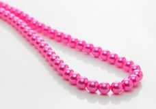 Pink pearl chain Royalty Free Stock Images