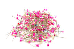 Pink Pearl Head Pins Bulk Stock Photo