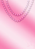 Pink Pearl Necklace Royalty Free Stock Photos