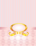 Pink Pearl with Pinstripe and Damask Royalty Free Stock Photos