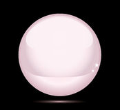 Pink pearl (vector). Button for a web or icon for a computer Vector Illustration