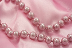 Pink pearls Stock Image