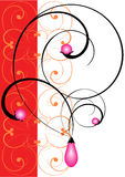 Pink pearls. Illustration of a symbolical jeweller ornament. The set beginning Stock Photo