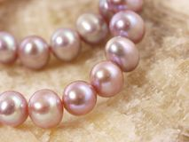Pink pearls Royalty Free Stock Photo