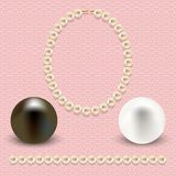 Pink with pearls Royalty Free Stock Images