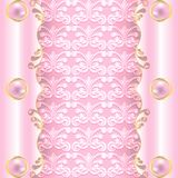 Pink with pearls Stock Photos