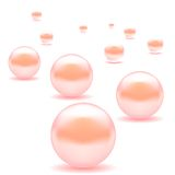 Pink Pearls Stock Photography