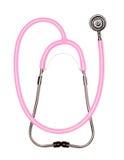 Pink Pediatric Stethoscope on White Royalty Free Stock Photos
