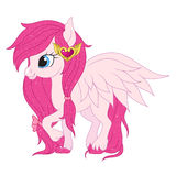 Pink pegasus illustration Stock Images