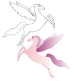 Pink Pegasus. Pegasus, Pegasus tales from the Silmarillion Royalty Free Stock Photo
