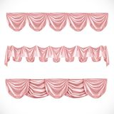 Pink pelmet on a white background Royalty Free Stock Photos