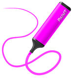 Pink pen Stock Photo