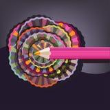 Pink pencil Stock Image