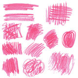Pink pencil drawing sketches Royalty Free Stock Image