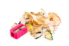 Pink pencil sharpener Stock Image