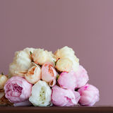 Pink peony bouquet Stock Images