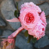 Pink Peony Bridal Bouquet Stock Photography