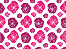 Pink Peony Flower Pattern Stock Photo