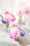 Pink peony and hyacinth Royalty Free Stock Image