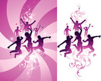 Pink people background Royalty Free Stock Image