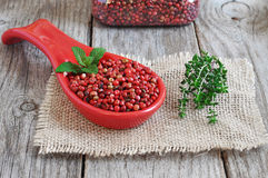 Pink pepper. Royalty Free Stock Photography