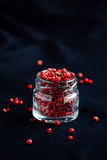 Pink pepper spice on dark background Stock Photography