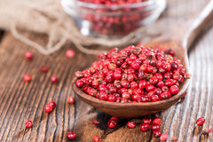 Pink Peppercorns (close-up shot) Royalty Free Stock Images