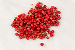 Pink Peppercorns (Schinus terebinthifolius) Stock Photo