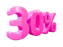 Pink Percent Sign Isolated Stock Photo