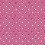 Pink perforated heart backround pattern Royalty Free Stock Photography