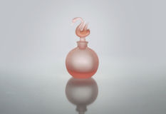 Pink Perfume Bottle Isolated Royalty Free Stock Images