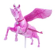 Pink perseus horse statue isolated. On white background Stock Photography