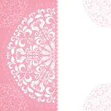 Pink petal pattern with space for text Stock Photos