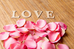 Pink petals Stock Images
