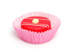 Pink petit four Royalty Free Stock Images