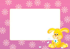 Pink photo frame Royalty Free Stock Image