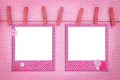 Pink photo frames Stock Photography