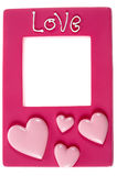 Pink photograph frame Royalty Free Stock Photo