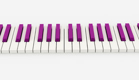 Pink piano keyboard rendered Stock Photo