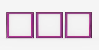 Pink picture frame isolated Stock Image