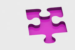 Pink piece of puzzle Royalty Free Stock Photography