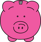 Pink pig. Vector illustration of pink pig Stock Photos