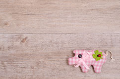 Pink pig as lucky charm Stock Photo