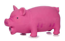 Pink pig dog toy cutout Royalty Free Stock Photos