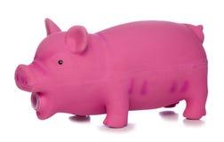 Pink pig dog toy cutout. Pink pig dog toy studio cutout royalty free stock photos
