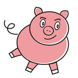 Pink pig Royalty Free Stock Image