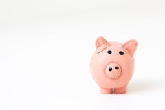 Pink Pig Figurine Stock Images