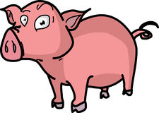 Pink pig  illustration Royalty Free Stock Images