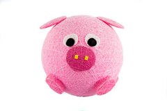 Pink pig isolate Stock Photography